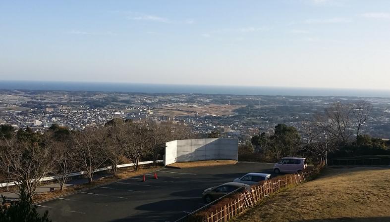 蔵王山展望台駐車場